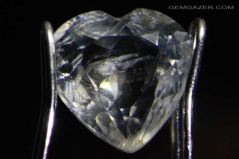 Hackmanite colourless faceted Canada. 1.76 carats.
